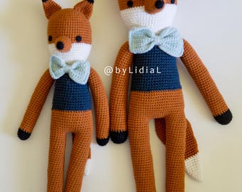 Handmade Crochet Fox Stuffed Animal Toy