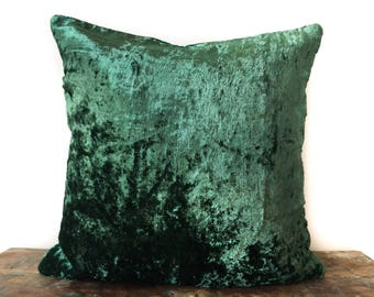 Green Velvet Pillows Etsy