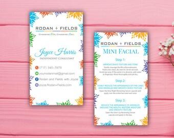 Rodan and Fields Business Card, Custom Rodan and Fields Mini Facial, Custom Business Card, Printable Business Card RF01