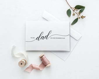 To My Dad Card | Printable Wedding Day Card | On Our Wedding Day Card | DIY To My Father Card | Printable Thank You Card | Card For Dad