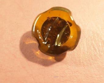 1950's glass bimini style button.