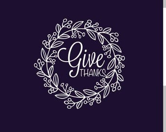 Give Thanks Wreath SVG