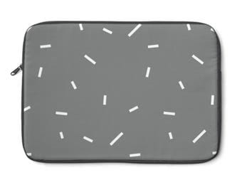 Abstract Lines Laptop Sleeve, Geometric Laptop Sleeve, Minimalist Laptop Sleeve, Macbook Sleeve, Computer Bag, Polka Dot Laptop Bag