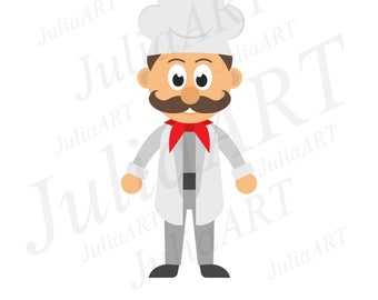 cartoon chef set