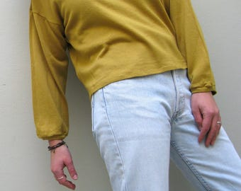 Yellow wool sweater