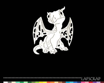 2 cut scrapbooking scrap dragon animal cutout paper decoration die cut embellishment