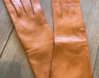 60s Tan soft leather gloves