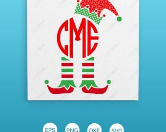 elf monogram svg, Christmas svg, elf svg, SVG, DXF, EPS,Christmas svg, christmas cheer svg, buddy svg, funny elf svg, elf ideas, LB354