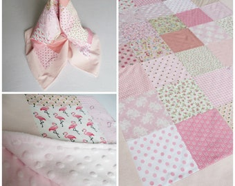 Pink baby patchwork blanket