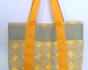 Tote Bag with Pockets for Shopping, Books, School, Market, Diapers, Knitting and Sewing Projects