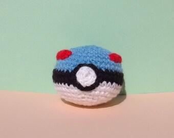 Superball inspiration, Pokeball, Amigurumi, crochet