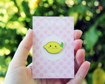 Lemon Hard Enamel Lapel Pin Badge - Lemony the Mascot