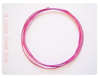 2 m of wire, aluminum 1 mm-Fuchsia