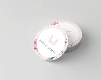 Amelia James LOGO Stickers, Multi Purpose | FLORAL