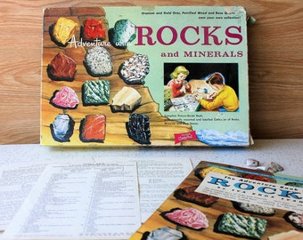 Adventure with Rocks & Minerals 1950s Activity Science Geology Kit Educational Toy