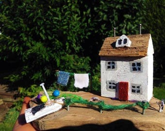 Handmade Driftwood Seaside House