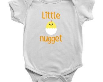 Little Chicken Onesie, Little Nugget One Piece Bodysuit, Baby Chick Romper, Funny Farm Onesie, Baby Shower Gift, Cute Baby Onesie