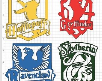 Hogwarts House Crest Vinyl Decal Harry Potter Hufflepuff Gryffindor Ravenclaw Slytherin **PLEASE READ**