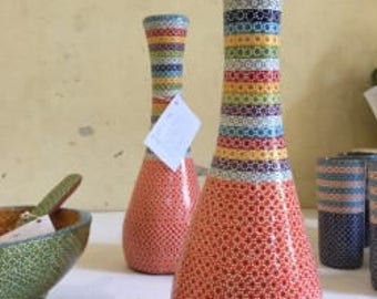 handcrafted vase and cups game