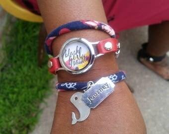 Black Girl Passion Hope Wraparound Bracelet