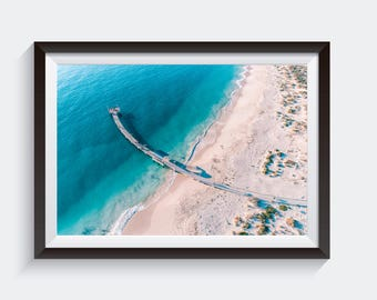 Jetty Print - Wall Art, Wall Decor, Aerial Photography, Drone, Home Decor, Aerial, Poster, Digital Print, Beach Print, Beach Photography