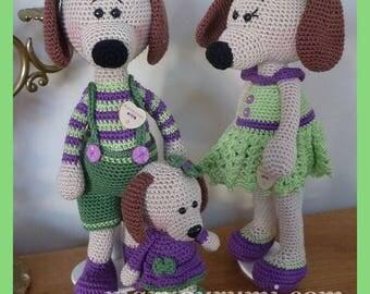 Crochet Amigurumi plush dog