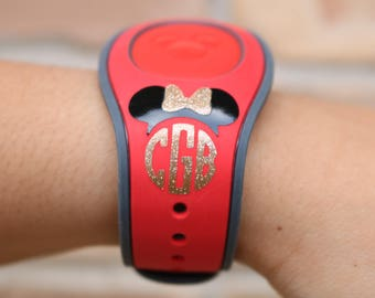 Disney Monogram Magic Band 2.0 Decal | Disney Decal | Disney Monogram | Minnie Mouse Monogram Decal |Mickey Mouse Decal |Magic Band Sticker