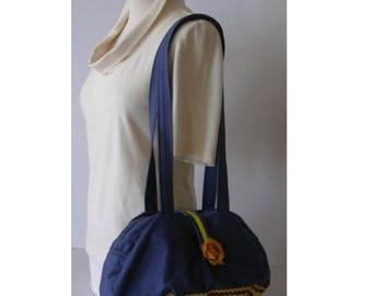 Bag * Jean Fleur Jaune * - cotton - Romantic fantasy
