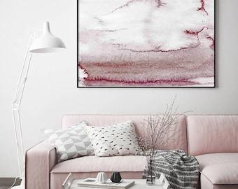 Pink Grey Blush Art, Watercolor Print, Abstract Art, Modern Print, Wall Art, Home Decor, Watercolour Art, Watercolor Print, Modern Wall Art