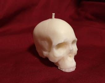 100% Natural Soy Wax Skull Votive Candle