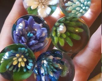 Flower marble spinners