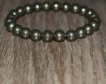 Pyrite Bracelet, Anxiety Bracelet, Energy Bracelet, Men Pyrite Bracelet, Women Pyrite Bracelet, Anxiety Relief Bracelet, Protection Bracelet