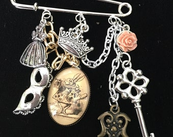 Alice in Wonderland Charm Pin