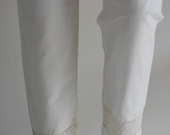 Off-White Straight Trousers
