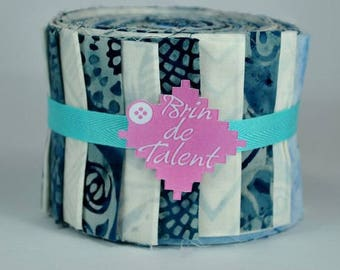 Frost Roll Bali - batik for quilt - Jelly roll fabric strips