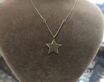 Hand-made Gold Star Necklace Available in 14k Gold, White Gold or Rose Gold