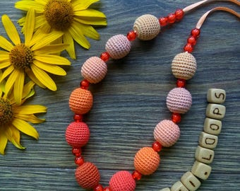 Wooden necklace - Gift for Girls and Women - Stylish accessory -