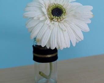 Vintage Button Flower Vase