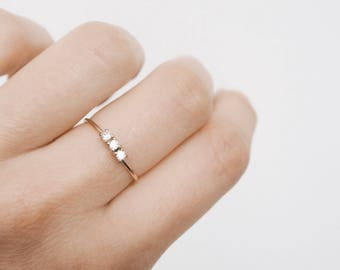 Gold delicate ring - stacking ring - delicate ring - minimalist jewelry - gold ring - Dainty jewelry - R067
