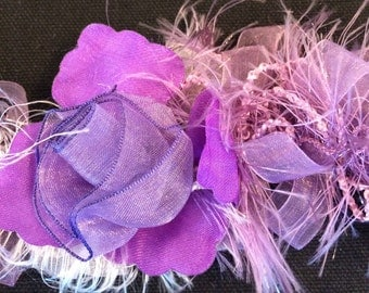 "Purple Rose Boa Trim 2"" Wide-47"