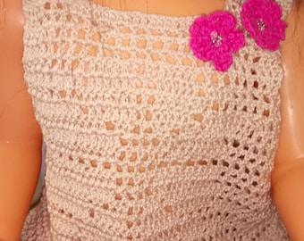 Tank top crochet for little coquette 12/18 months