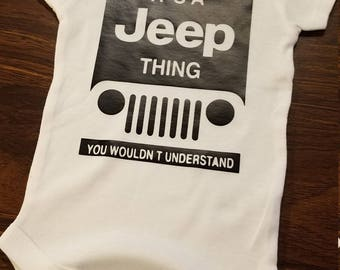 Baby Onesies - Jeep Thing