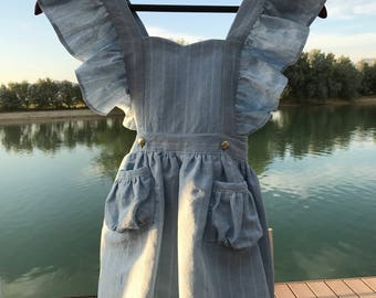 Little Girl/Toddler Vintage Nautical Dress and Romper