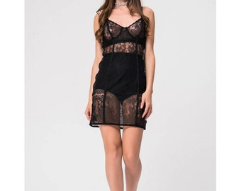 nasty lace black dress