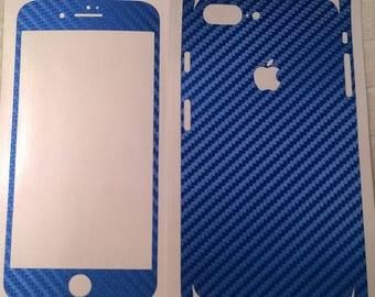 Apple iPhone 7 Plus Blue Carbon Fiber Skin - Dillowraps