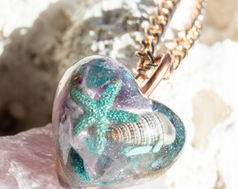 Crystalline  Orgone Pendant Necklace - Life Force Generator - EMF Protection - Reiki infused / attuned  528hz