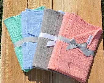 Set of Three Double Gauze Blankets