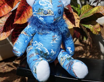 Blue Hawaiian bear