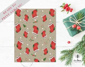 Merry christmas Card Printable. Tarjeta navideña imprimible
