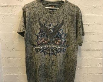 RARE 90's 1994 Vintage Harley Davidson Grunge Biker Motorcycle Bleached Tee T-shirt